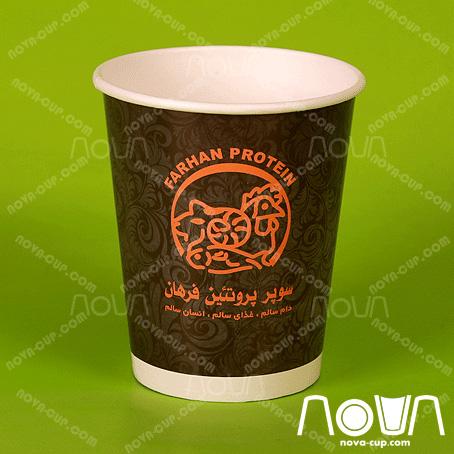 لیوان کاغذی اختصاصی سوپر پروتئین فرهان