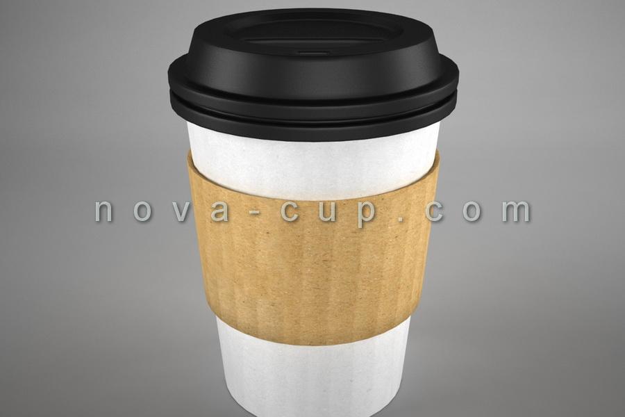 لیوان کاغذی قهوه دار
